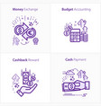 business and finance icon set budget accounting vector image vector image