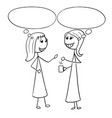 cartoon of two women business people talking vector image vector image
