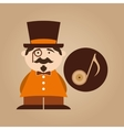 character male hipster music note vector image