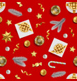 christmas and new year seamless pattern with vector image vector image