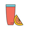cocktail glass icon cartoon style vector image vector image