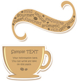 Coffee sticker vector image