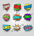 comic bubble speech communication frame pop art vector image