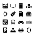 Computer hardware icon vector image vector image