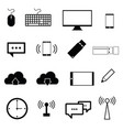 computer icon set in black color vector image vector image