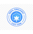cotton icon 100 organic natural logo label