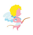 cute little baangel character isolated icon vector image