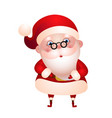 cute santa claus merry christmas vector image