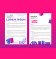design leaflet flyer booklet or poster vector image