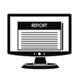 digital tax report icon simple style vector image