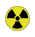 Doodle style radiation sign vector image