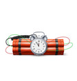 dynamite bomb with countdown clock military vector image vector image