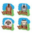 farm animals Horse sheep goat a donkey on the vector image vector image