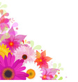 Flower Background With Gerbers And Leafs vector image