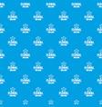 flower wedding pattern seamless blue vector image vector image