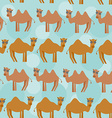 Funny camel Seamless pattern with cute animal on a vector image vector image
