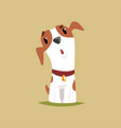 funny jack russell puppy character cute terrier vector image vector image