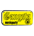gangsta stamp vector image