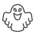 ghost line icon fear and halloween poltergeist vector image vector image