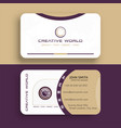 gold luxury vip business card design vector image vector image
