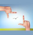 hands make frame vector image vector image