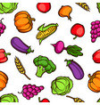 harvest seamless pattern autumn with vector image vector image
