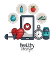 healthy lifestyle element concept design vector image