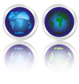icons of blue planet earth vector image vector image