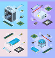 isometric electronic devices concept vector image vector image