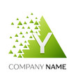 letter y logo symbol in colorful triangle vector image vector image