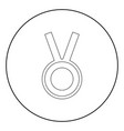 medal the black color icon in circle or round vector image vector image