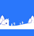 merry christmas and happy new year origami winter vector image vector image
