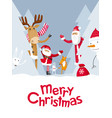 merry christmas hide and seek vector image vector image