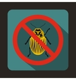 No potato beetle sign icon flat style vector image