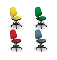 Office chairs vector image vector image