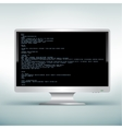 pc white monitor code vector image vector image