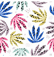 plants spotty leaves hand drawn seamless pattern vector image vector image