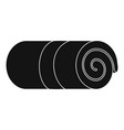 rolled towel icon simple style vector image vector image