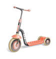 roller scooter for children balance bike eco city vector image