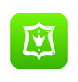 royal shield icon green vector image vector image