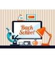 school flat design composition vector image