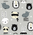 seamless childish pattern with stylish monochrome vector image vector image