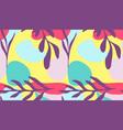 seamless pattern hand drawn various shapes vector image vector image