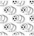 Seamless pattern of footballs or soccer balls vector image