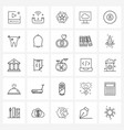 set 25 ui icons and symbols for ball computer vector image vector image