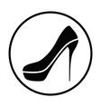 Sexy high heel shoe icon vector image vector image