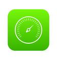 speedometer icon digital green vector image vector image