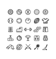 Sports wear equipment line icons set vector image vector image