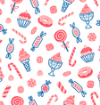 Sweet desserts seamless pattern vector image vector image
