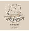 tea with jasmine vector image vector image